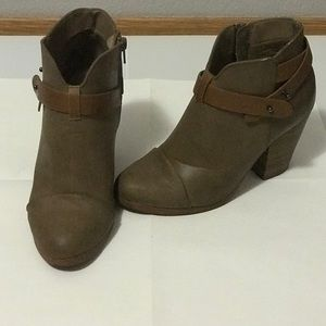 Tan Strap Ankle Boots (healed)